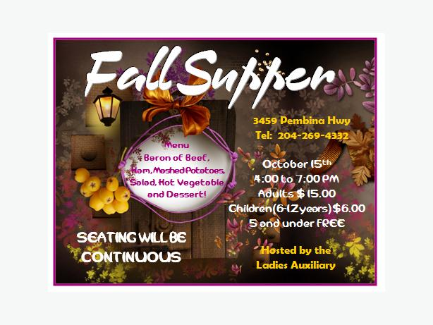 Fraternal Order of Eagles # 3870 Fall Supper