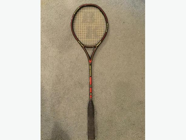 Black knight squash racquet and jacket