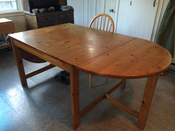 moving must sell large ikea solid pine dining table surface could