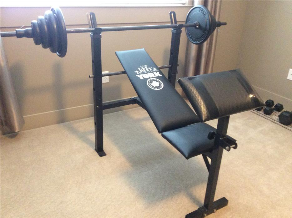 Multi Function Weight Bench And Weights North Nanaimo Nanaimo