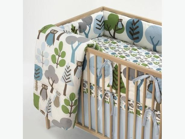 dwellstudio crib bedding set owl sky two available