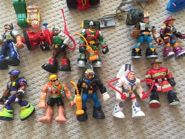 Large lot of Rescue Hero figures and accessories