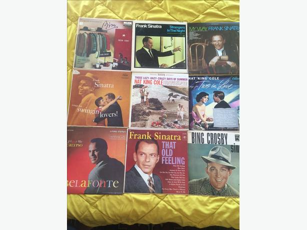 34 Vintage Crooners Sinatra Belafonte Nat King Cole LP's Records
