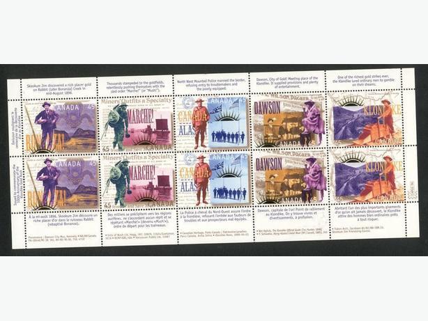 Canada Stamps Souvenir Sheet Yukon Gold Rush 1996