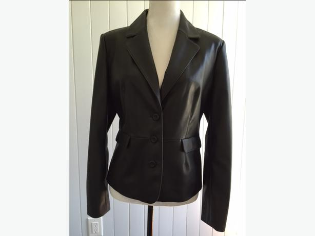 Black (Vinyl type) jacket - Size (M) - $15.00 - Like new Worn once