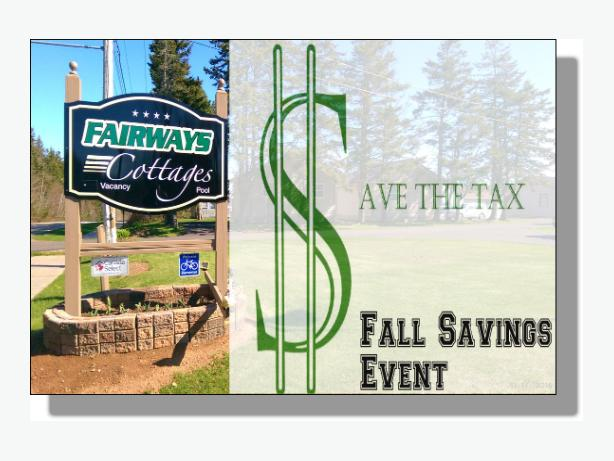 Save The Tax Fall Savings Event