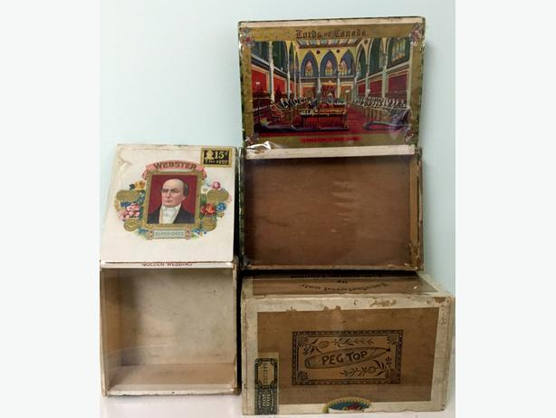 Vintage cigar boxes and tobaccanio collectibles for sale
