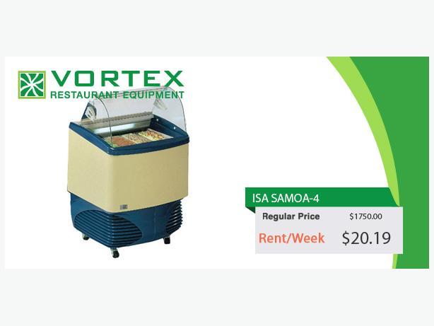 "ISA SAMOA-4 4 Pan Gelato Dipping Cabinet ""Used"""