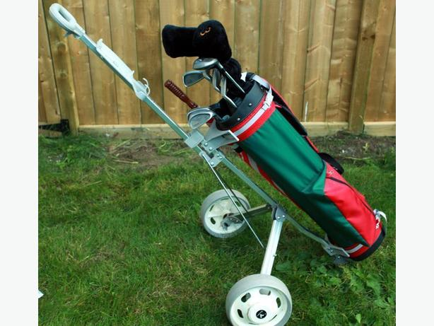 Men's Golf Club Set - Right Handed w/ Bag & Cart