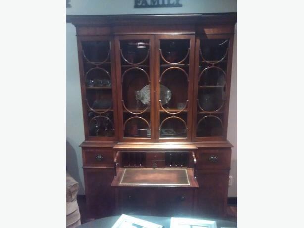 antique 1930 s breakfront butler hutch
