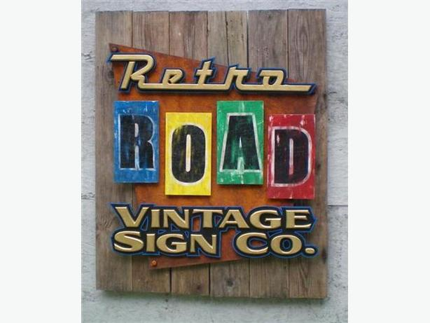 Custom Vintage Themed Signs