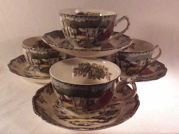 Johnson Bros Friendly Village teacups & saucers