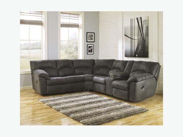 New Tambo Pewter Reclining Sectional