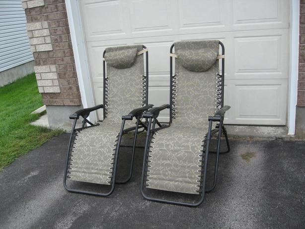 2 great outdoor recliners for only $80 for both