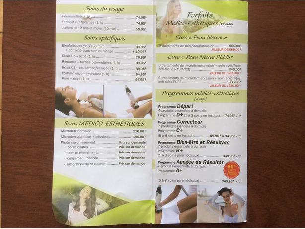 Certificat cadeau Centre Medico Esthétique Karine Bonicalzi