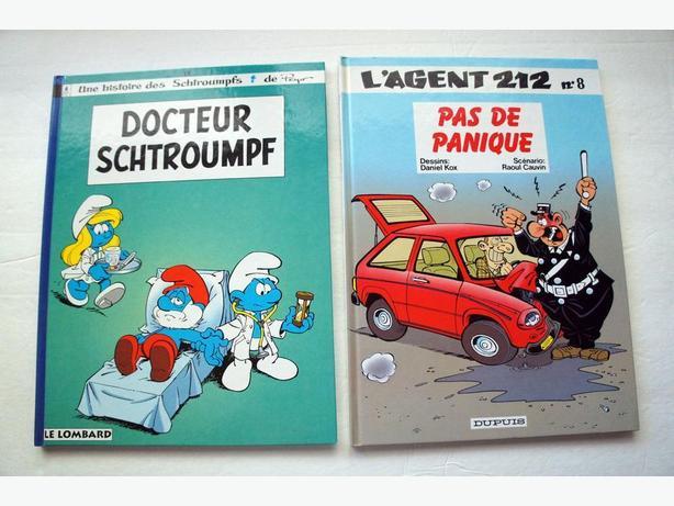 6 livres de Bande dessinée (cartonné)/ 6 French comic books