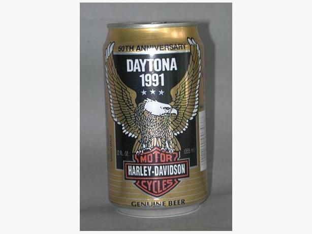 Daytona 1991 Harley Davidson Motorcycles 50th Anniversary Beer
