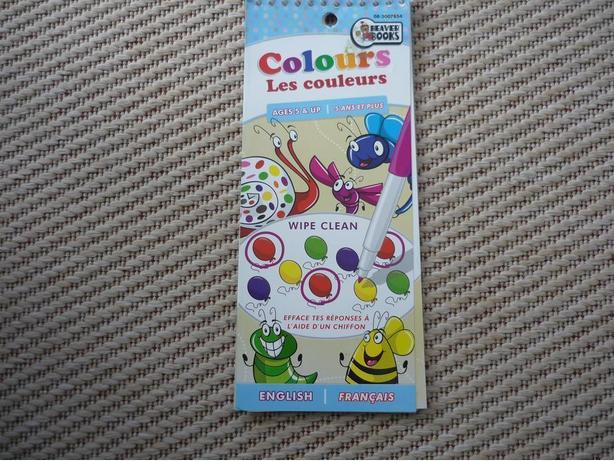 Learn Colours - for use with water-based markers and crayons