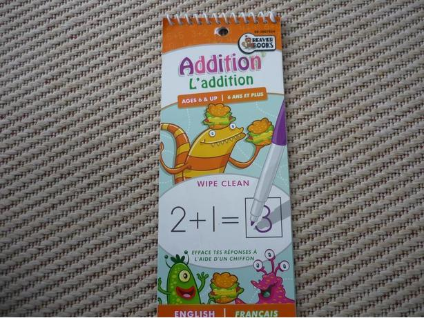 Learn Addition - for use with water-based markers and crayons