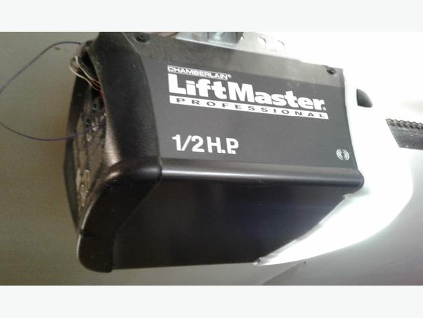 Two Liftmaster Garage Door Motors Outside Victoria Victoria
