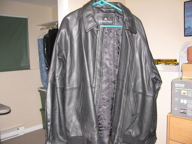 New Men's Black Leather Jacket