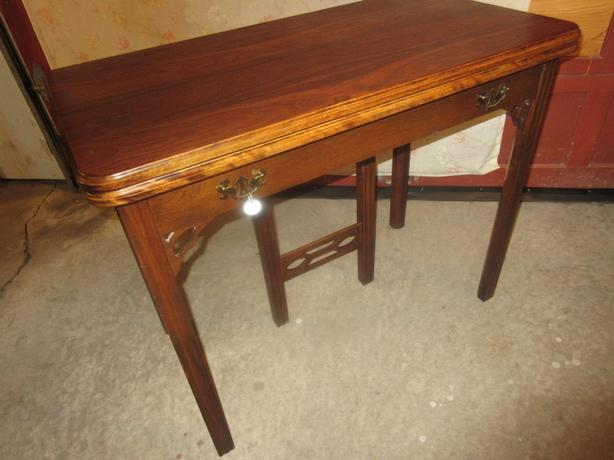 1940S REFRACTORY WALNUT TABLE FROM ESTATE