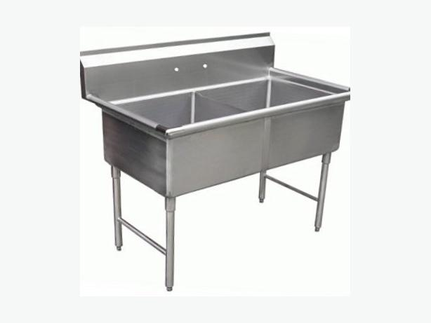 ALLSTRONG (Brand New) Double Stainless steel sink with backsplash