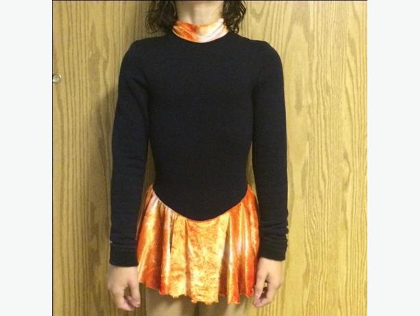 Figure skating dress 12/14 years Mondor Polartec