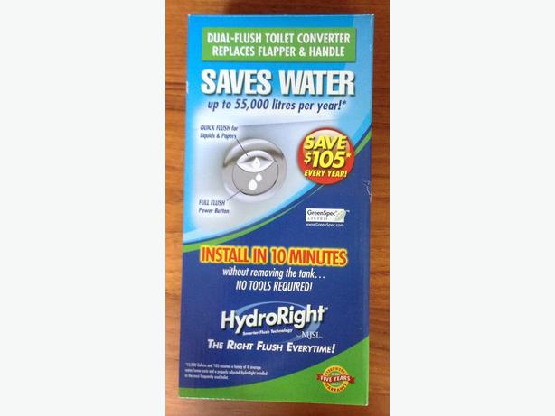 HydroRight Dual-Flush Toilet Converter