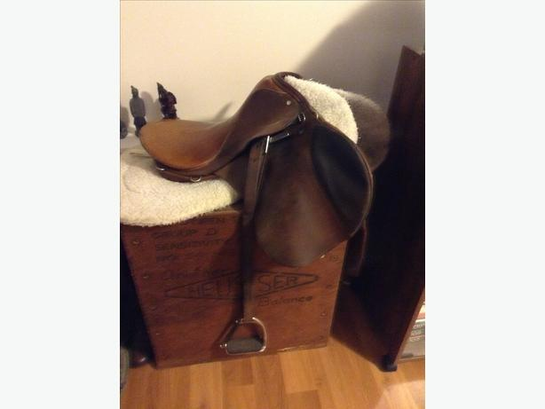 "English riding saddle ""Stubben"" Reduced price from $550."