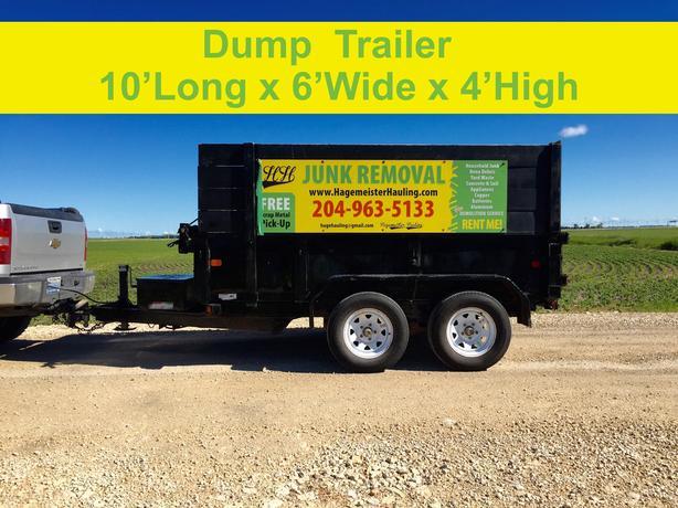 RENT- Dump Trailers - YOU LOAD - WE HAUL - 204-963-5133
