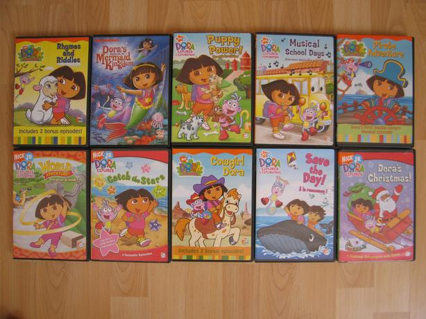 Dora, Diego Series DVDs and a lot more