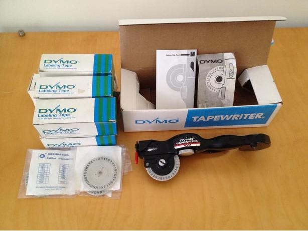 Dymo Metal Embossing Tapewriter M1011 & 55 rolls aluminum tape