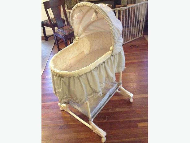 cream colored bassinet