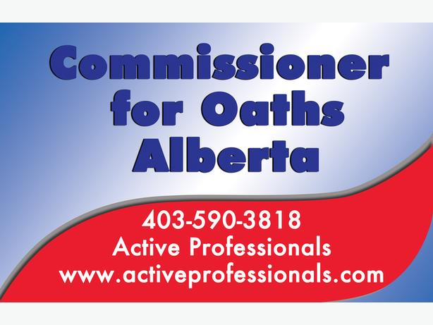 Commissioner for Oaths in Alberta