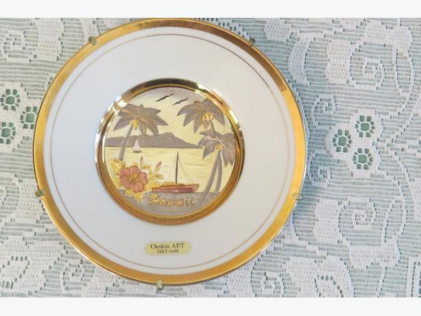 Chokin Art Porcelain Plate