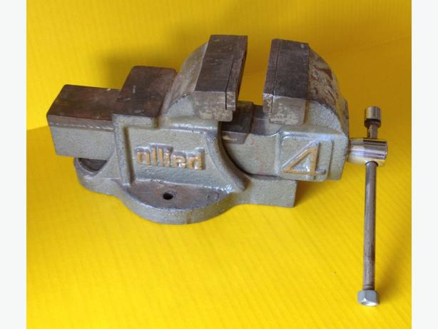 """Heavy Duty """"Allied"""" 4-in Machinist/Mechanic Vise with Anvil"""