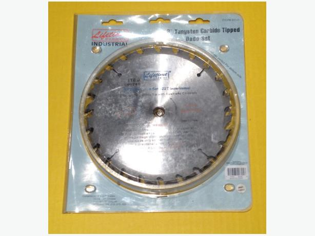 """Lifetime Carbide"" 8-in Tungsten Carbide Tipped Dado Set – Brand New"