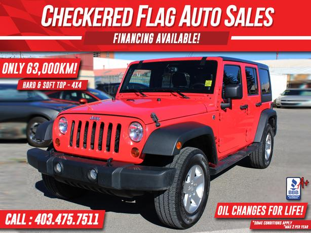 2013 Jeep WRANGLER UNLIMITED ONLY 63000km-AUTO-HARD & SOFT TOP