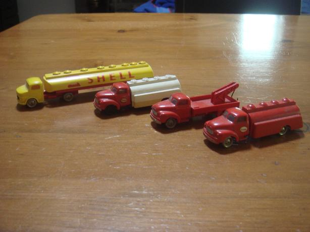 Rare Four Lego HO Scale Trucks