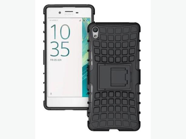 New Rugged Heavy Duty Hybrid Stand Case For Sony Xperia X