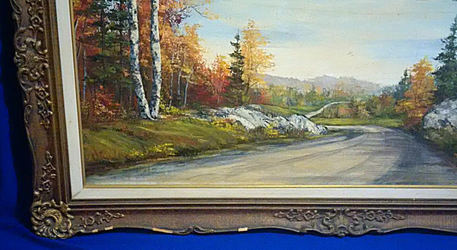 Art oil painting northern ontario landscape by o j for Landscaping rocks windsor ontario