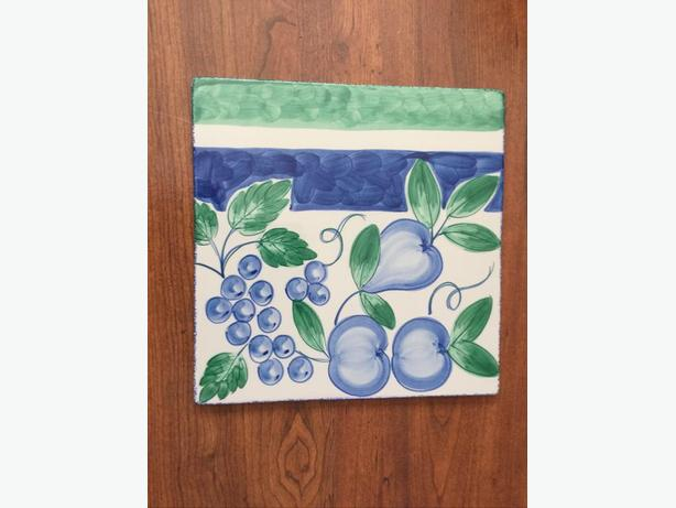 "Reduced - NANCY CALHOUN  Made in Portugal Ceramic Trivet 11""X11"""