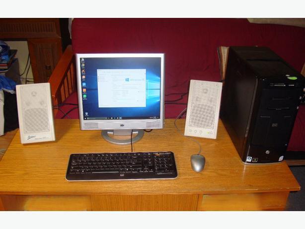 HP Intel Core 2 Quad Complete Computer System Win 10 Pro + Surround Sound - $275