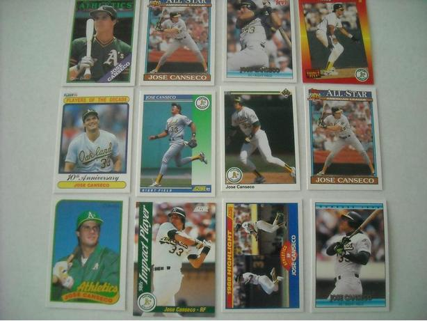 JOSE CANSECO BASEBALL CARD COLLECTION FOR SALE