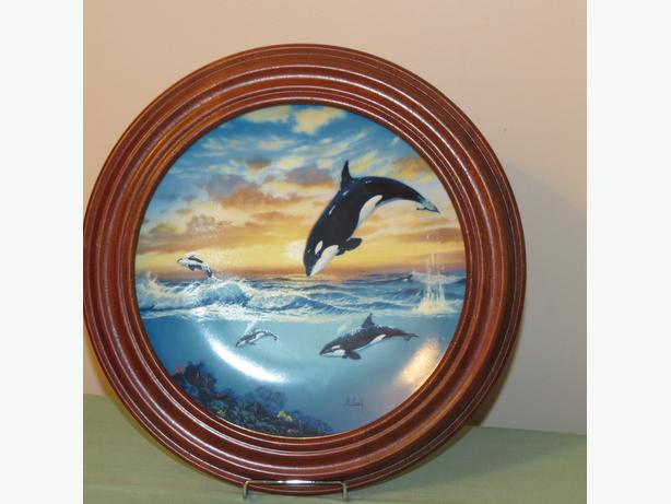 "Whale Plate  ""Jumping For Joy"""