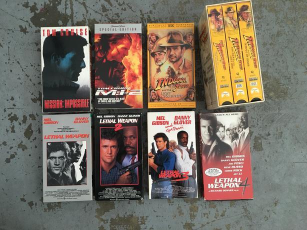 34 VHS movies
