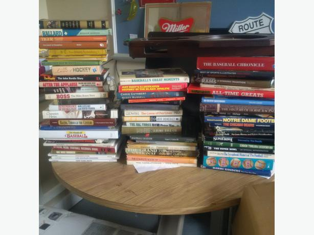 assorted sports books for sale