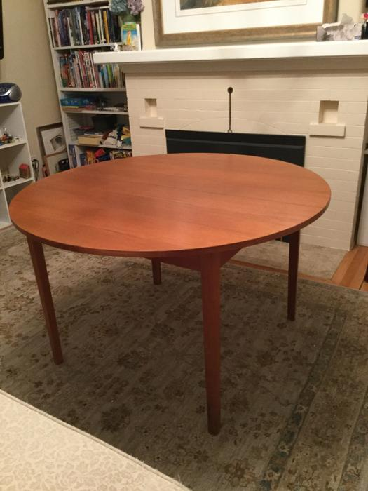 Attractive Round Teak Dining Table For Sale Chairs Not Included Oak Bay V