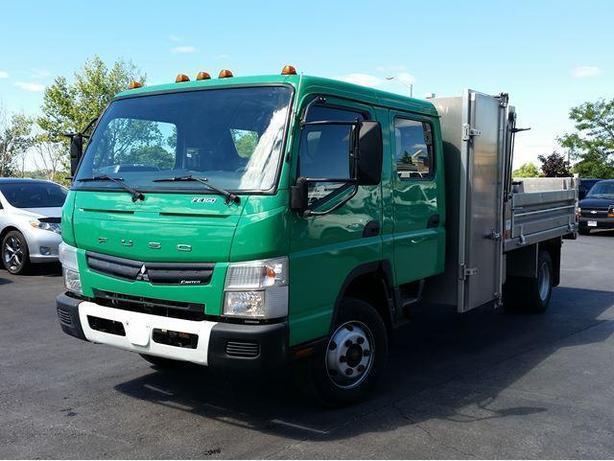 2012 Mitsubishi Fuso FE160 - Crew Cab - Aluminum Dump W/Drop Sides
